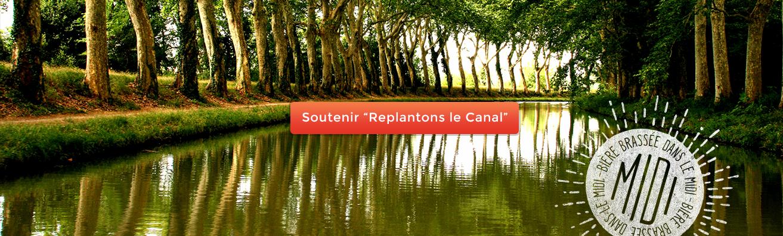 retrouvez notre bière artisanale d'Occitanie au bord du canal du Midi
