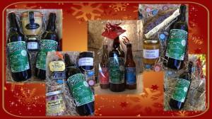 Nos coffrets de Noël à retrouver sur les marchés de Noël ou nous serons présents ou à notre caveau de Poilhes ouvert du lundi au samedi!