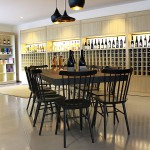 Décor du restaurant Basalte à Agde: épuré, droit au but. Royal pour boire une bière La Gorge Fraîche ! (photo page FB Basalte)