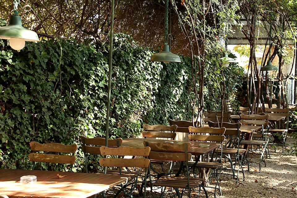 La terrasse des Marronniers, spot idéal pour boire La Gorge Fraîche (photo page FB Les Marronniers)