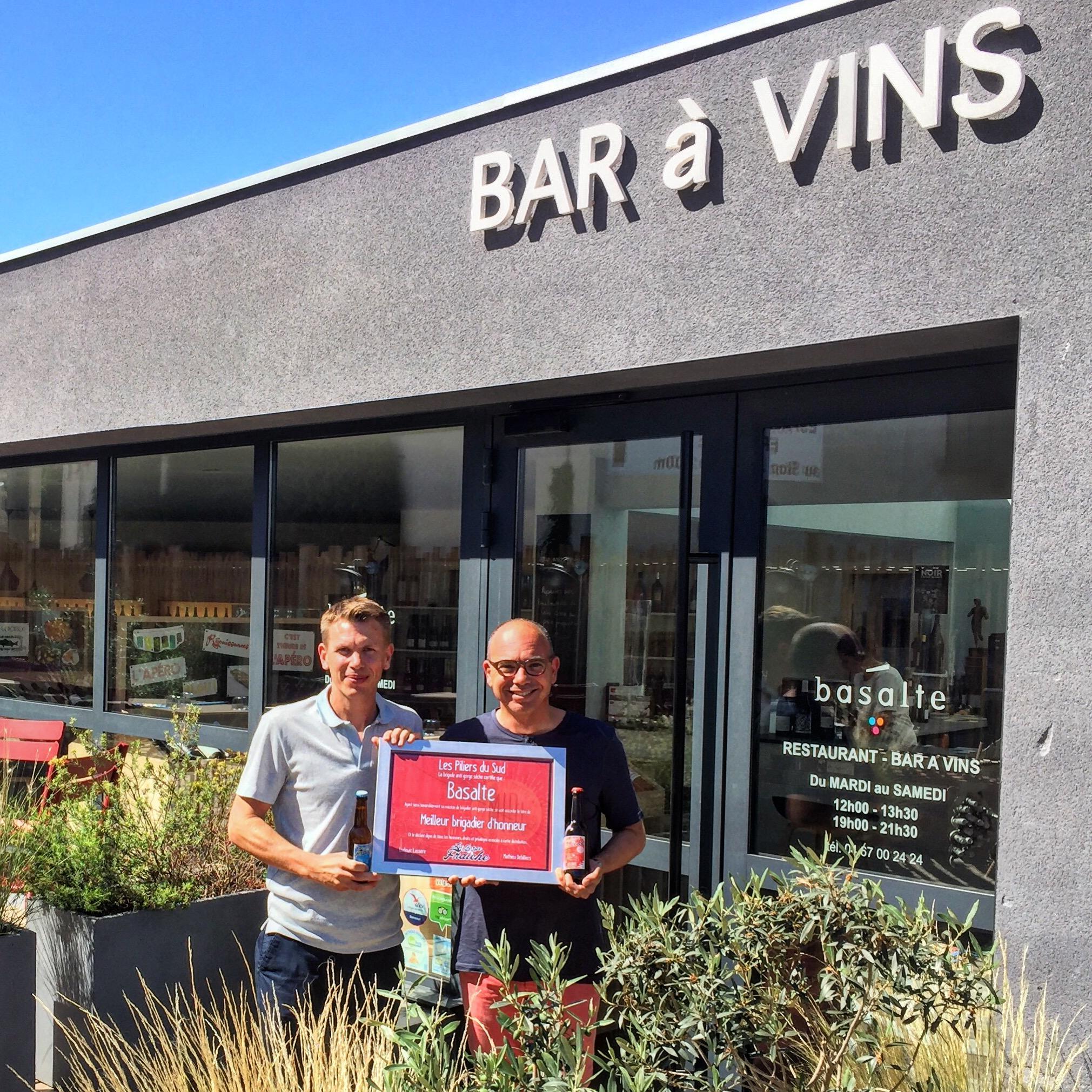 Retrouvez notre bière artisanale à Agde chez le bar à vins caviste Basalte