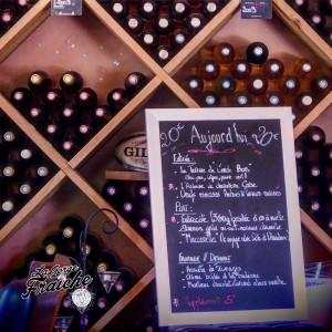 Les vins du château de Coussergues sont proposés à la carte chez Monsieur Pierre © La Gorge Fraîche, bière artisanale Sud de France