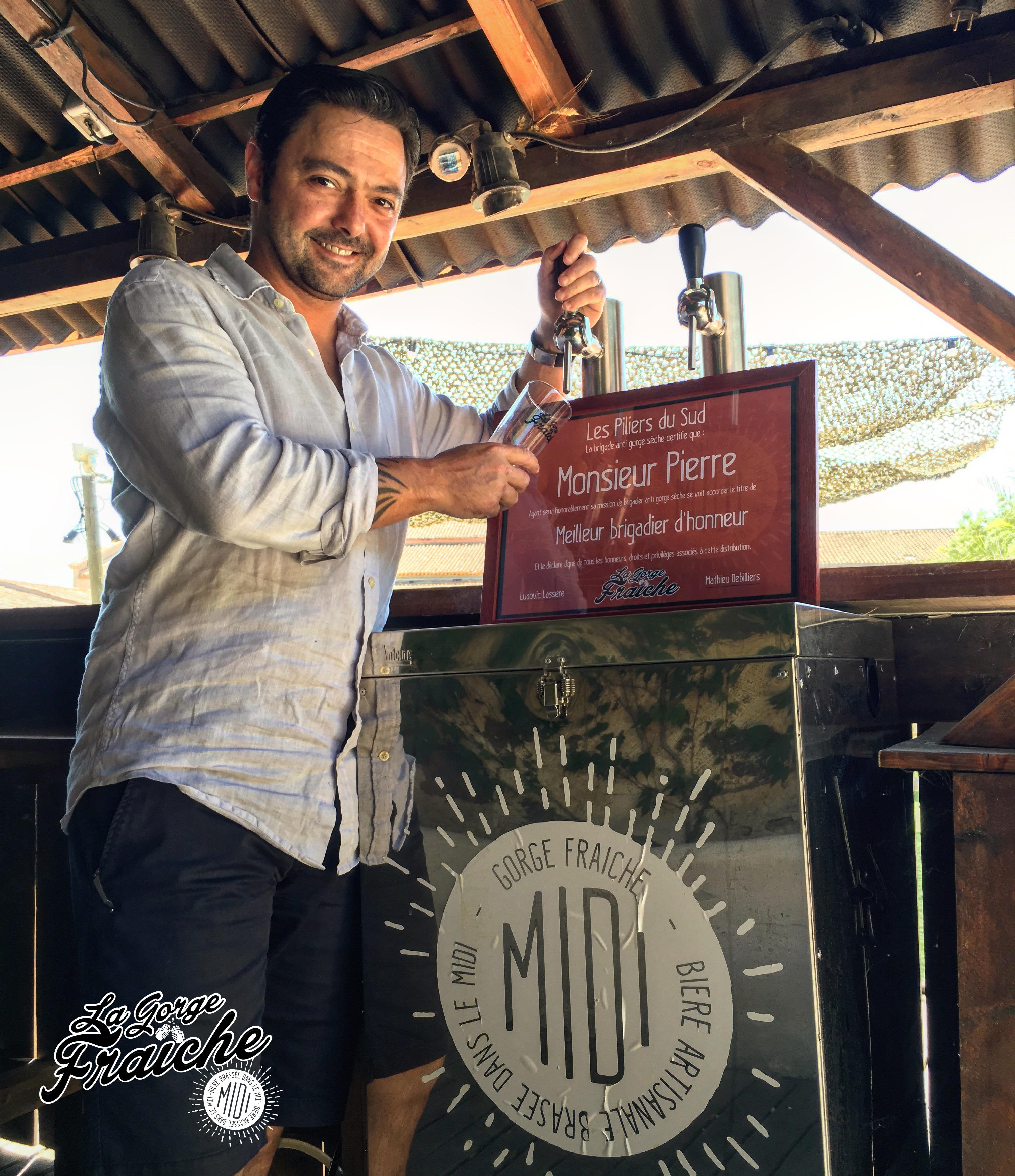Pierre Perez, traiteur et restaurateur à Montblanc, domaine de Coussergues. Une Perle du Midi à votre porte © La Gorge Fraîche, bière artisanale en Occitanie