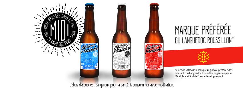 bière artisanale sud de France brassée en Occitanie commercialisée en Languedoc