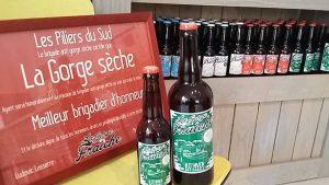 disponibilité de notre bière artisanale à Valras-Plage chez le caviste La Gorge Sèche dans 4 couleurs