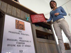 La boutique de Mélanie Weber propose notre bière artisanale à Valras-Plage