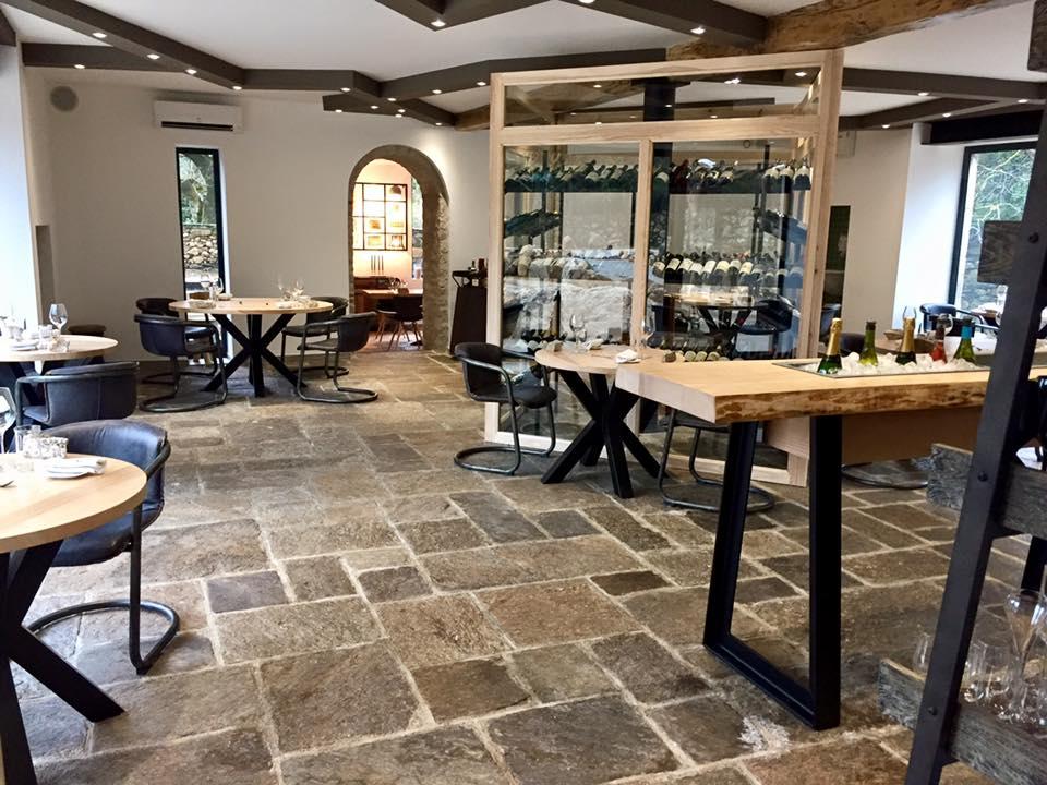 le magnifique restaurant à Colombières La Mécanique des frères Bonano