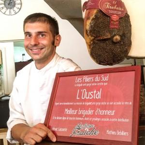 très bon restaurant à Pézenas. La gorge fraîche, bière artisanale sud de france et occitanie